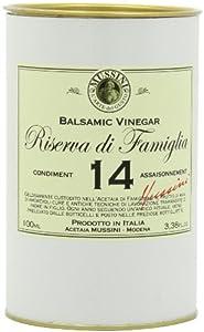 Mussini 14 Year Balsamic Vinegar, Riserva di Famiglia, 3.38-Ounce Glass Bottle