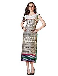 Shonaya MultiColor Printed Cotton Stitch Kurti