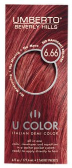 U Color by Umberto Italian Demi Color 6.66 Red Mahogany Brilliant (Red Mahogany Dye compare prices)