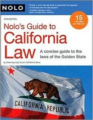 Nolo's Guide to California Law 10th (tenth) edition Text Only