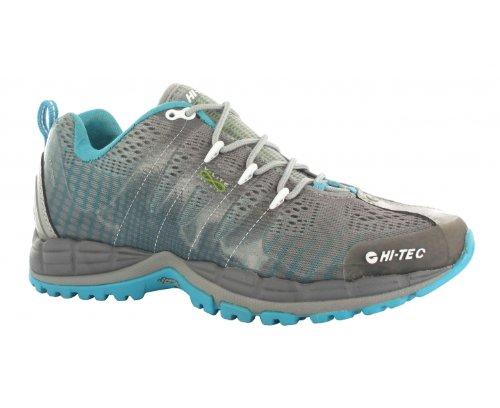 HI-TEC V-Lite Infinity HPi Ladies Trail Running Shoes, Grey/Blue, US10