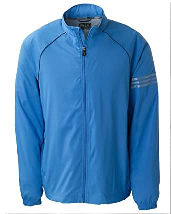 adidas A69 - Mens Golf ClimaProof Full Zip Striped Jacket by adidas
