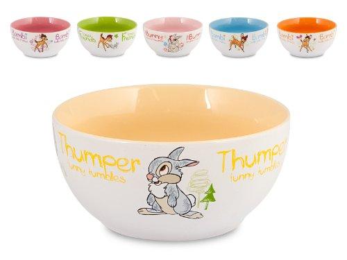 Home Disney Bambi, Bolo Cereali in Ceramica, 1 pezzo, Decoro Assortito