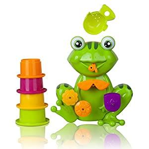 Zig Zag Kid Toddler Bath Tub Toy, Green Frog With 4 Stacking Cups by MSKH that we recomend individually.