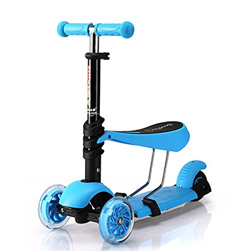Jumphigh Baby Kids Sit Scooter 3-in-1 Kick Scooter with ... Kids Sitting Scooter