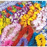 Mega Silk Lei Assortment (50 ct) for Tropical Hawaiian Luau Party Favors