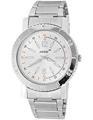 Addic Solid Round Heavy Silver Chain White Dial Analog Watch For Men