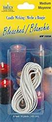Yaley Enterprises Candle Crafting Medium Flat Braid Candle Wick, 6-Feet