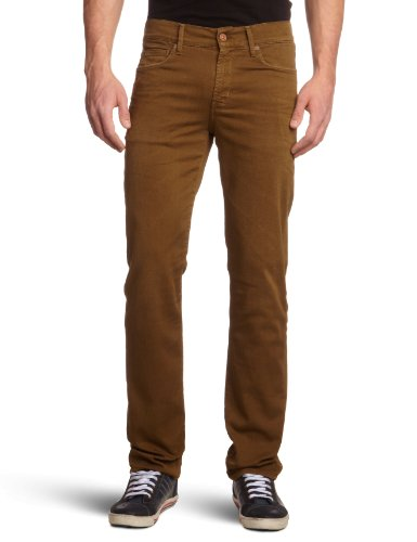 7 For All Mankind Men's SMLM380HK Slim and Skinny Trousers Beige Khaki 31/34