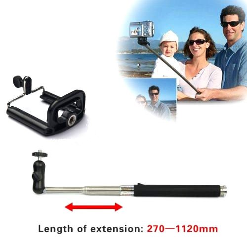 Extendable Camera Shooting Handheld Monopod+Aluminum Mount Holder For Samsung Galaxy Note 3 Note 2 S4 S3 S2