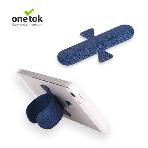 One Tok ワンタッチ スマートフォンスタンド スマホ スタンド 各種 スマートフォン iPhone5 iPhone 対応 (ブルー)