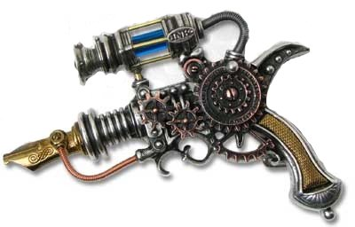Alchemy Empire: Steampunk Empire-Remington Patent Dermal Inducer Belt Buckle