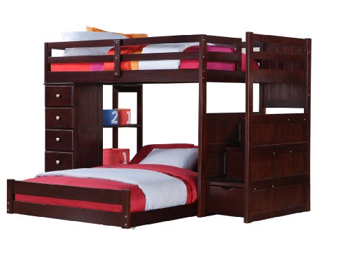 Suggestion Twin Over Full Modular Stairway Loft Bed With Chest Cheap Prices Furniture D Cor