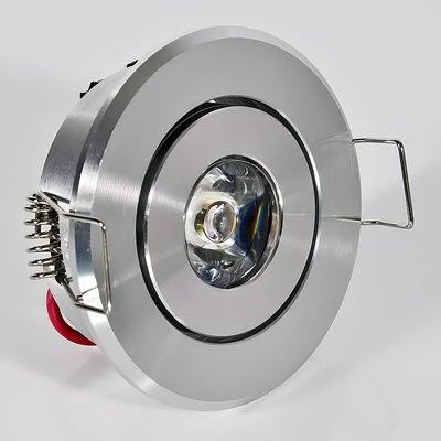 1W Led Einbauspot High Power Led´s 1 W Watt Warmweiss WW SMD LEDS 12 Volt / 230 Volt Einbaulampe Einbau Leuchte Spot Strahler Lampe Licht Aluminium Druckguss Schwenkbar NEU Picture