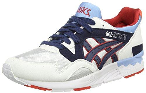 Asics Gel-lyte V Gs, Unisex-Erwachsene Sneakers, Grau (soft Grey/navy 1050), 39.5 EU thumbnail
