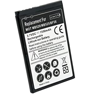 1550mah High Capacity BF5X Battery For Motorola Defy