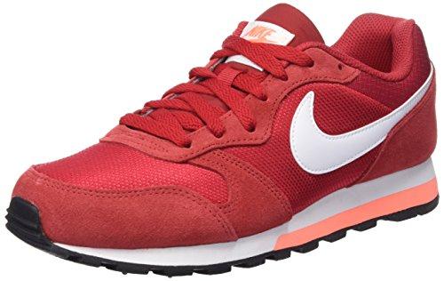Nike - Md Runner 2, Scarpe da Donna, Multicolore (Gym Red/White-Bright Mango), Taglia 39 EU