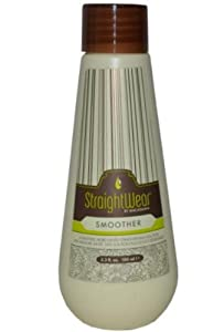 Macadamia Natural Oil Straightwear Smoother Straightening Solution Oil for Unisex, 3.3 Ounce