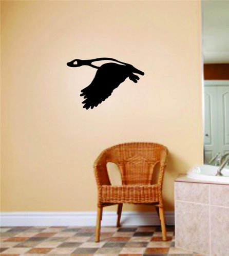 Flying Duck Animals Picture Graphic Art - Room Home Decor - Vinyl Wall Decal Stickers - Decoration Ideas - Cheap Buy Sale Item - Size : 18 Inches X 18 Inches - 22 Colors Available