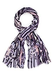 Autograph Pure Modal Lightweight Broken Striped Scarf