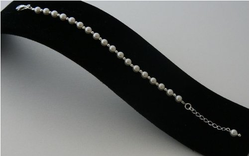 Pearl And Sterling Silver Bracelet - Baby Christening Gift