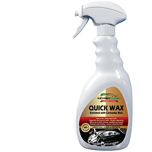 Quick Wax Car Detailing Spray by Kevian Clean-Professional Mobile Auto Care Polish-for Deep Shine & Maximum Sun Protection-Windows Headlights & Wheels Cleaner with Carnauba & Beeswax-Eco-Friendly (Organic Car Wax compare prices)