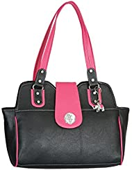 Keffle Women's HandBag (Black & Pink)