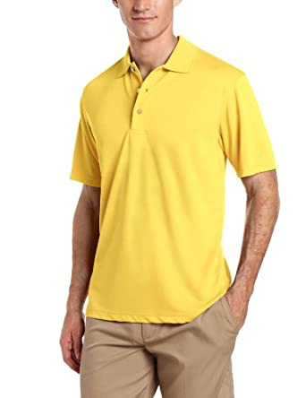 PGA TOUR Mens Airflux Solid Polo Shirt Small Pale banana yellow