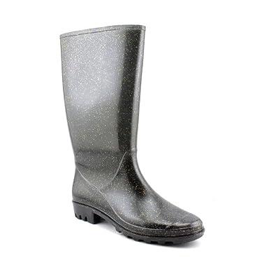 LeSportsac Rene Women's Black Glitter Rain Boot Size 9 M