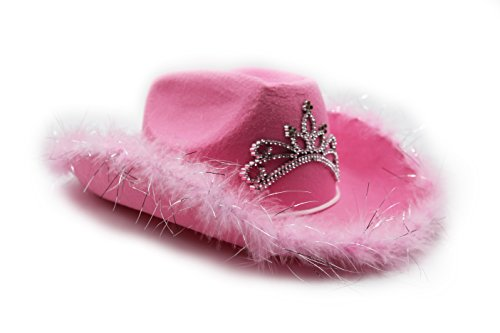 c9a80803a1d Pink Felt Feather Blinking Tiara Cowboy Cowgirl Dress Up Hat - Play ...