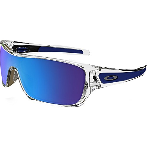 Oakley Turbine Rotor Sunglasses Pol Clear W/Sapphire Irid, One Size - Men's