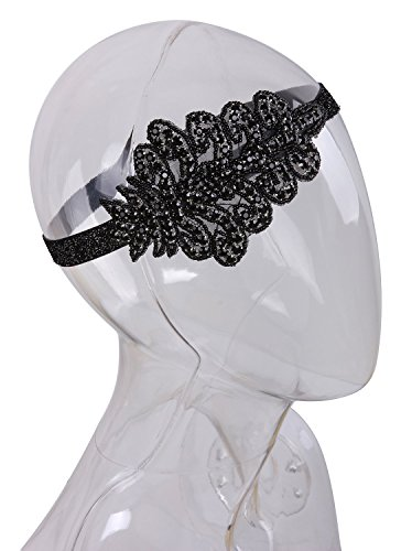 Vijiv-Black-White-Headpiece-Art-Deco-Vintage-1920s-Headband-Flapper-accessories