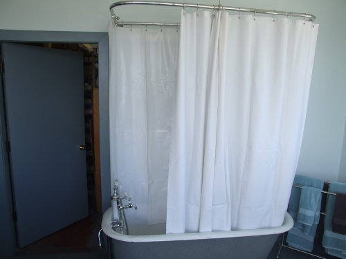 Extra Wide Shower Curtain For A Clawfoot Tub White Less Magnets Curtain Store