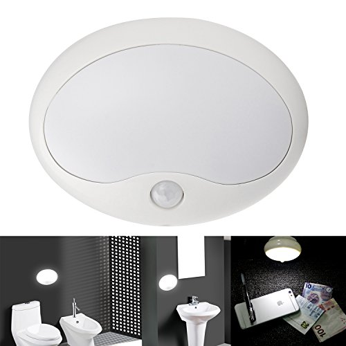 Danibos Bright Auto Led Pir Ir Infrared Motion Detector Wireless Sensor Closet Cabinet Bar Light Lamp,Closet Light,Step Light,Night Light Sensor Light (Cool White, 8.5X6.5) front-13934