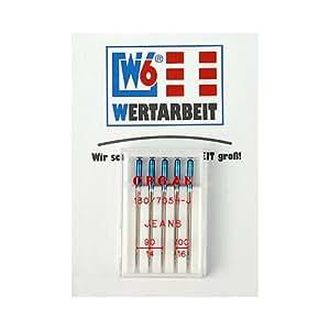 Original W6 Nähmaschinennadel 130/705 H-J Jeans 90/100 Sortiment 5 Stück