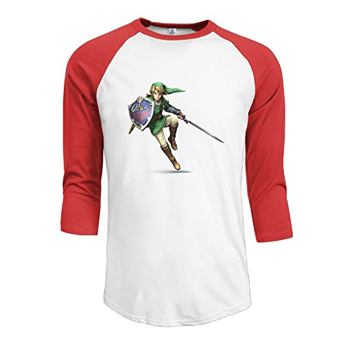 ninjoe-mens-baseball-3-4-raglan-link-the-legend-of-zelda-t-shirts-red-s