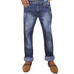 Hasasi Denim Men's Regular Fit Jeans - IBU30050-Jeans-Blue-36