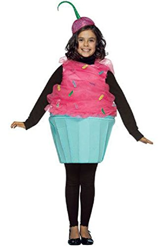 8eighteen Sweet Cupcake Outfit Child Costume (7-10) (Cupcake Fairy Halloween Costume)