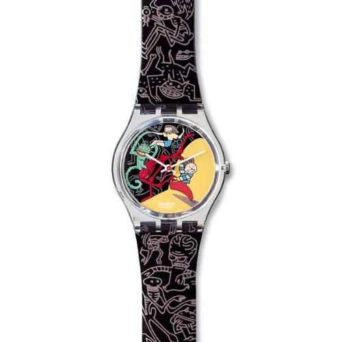 Amazon.com: Swatch Jungle Tangle Unisex Watch GK235: Swatch
