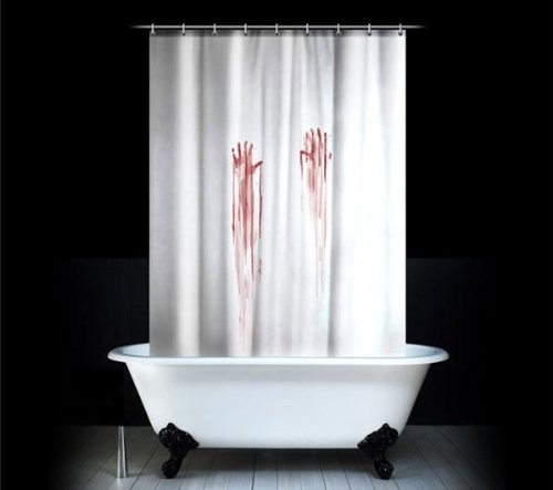 [UK-Import]Blood Bath Shower Curtain
