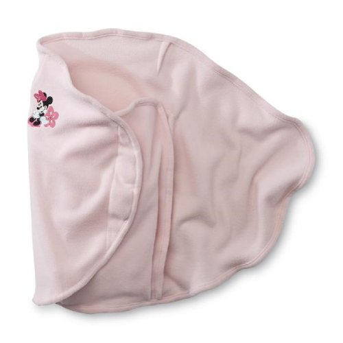 Disney Baby Infant Girl's Pink Minnie Mouse Swaddle Blanket - 1