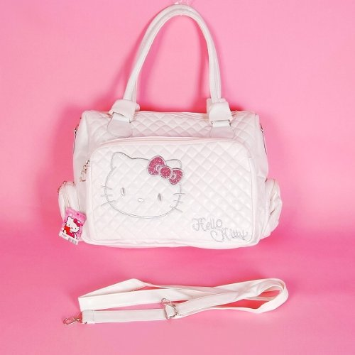 Hello Kitty Tote Bag Messenger Sling Purse White