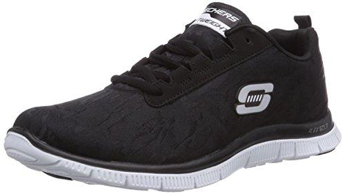 skechers-flex-appeal-clever-style-damen-sneakers-schwarz-bkw-41-eu