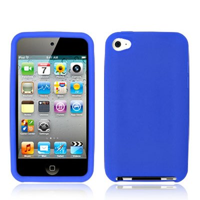 Blue Silicone Gel Case for iPod touch 4G 4th Generation