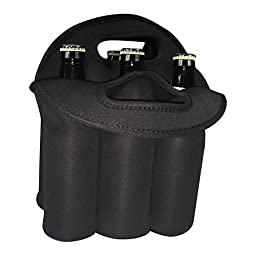 LovIT Scientific Neoprene Beer Tote - Holds a Full 6 Pack of Beer Bottles or Cans - Provides Insulation to Prevent Breakage and Keep Beer Cold Easy-to-carry Top Handles