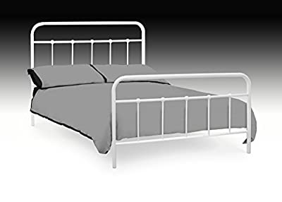 New Premier Traditional Style 4ft6 Double White Metal Bed Frame 20% Discount