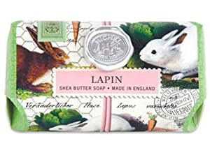 Michel Design Works Triple Milled Bath Soap Bar, Lapin, 9 Ounce