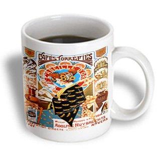 Mug_181072_1 Florene - Art Deco And Art Nouveau - Image Of Muchas Vintage French Coffee Ad - Mugs - 11Oz Mug
