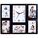 Collage Photo Frame With Clock