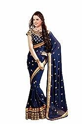 Leela Fashion Designer Georgette sari with blouse piece